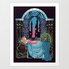 The Sleeping Rose Art Print