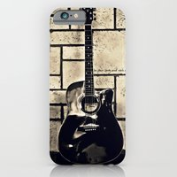 iPhone & iPod Case featuring Be Your Song and Rock On in Black by ArtsyCanvasGirl Designs