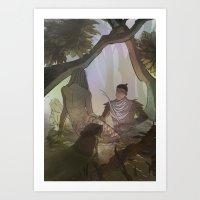The Morgens Art Print