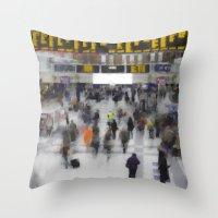 Liverpool Street Station London art Throw Pillow