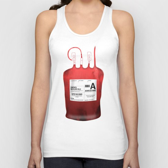 My Blood Type is A, for Awesome! *Classic* Unisex Tank Top