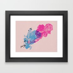 Nerd /// Fight Framed Art Print
