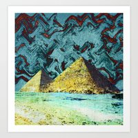 Psychedelic Pyramids Art Print