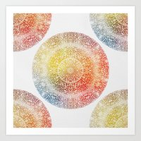 Art Prints featuring Pastel Rainbow Mandala by Klara Acel