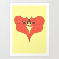 Squirrel Valentine  Art Print
