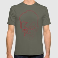 One line Aladdin Sane Mens Fitted Tee Lieutenant SMALL