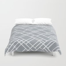 Map Outline Grey 45  Duvet Cover