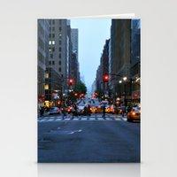 Nightfall In New York Stationery Cards