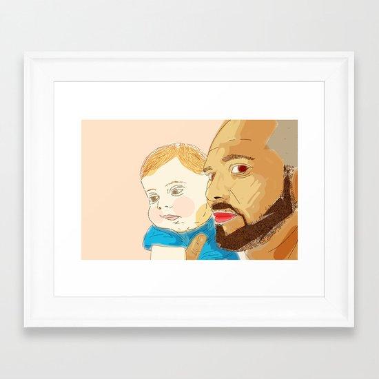 Cesar & Bruno Framed Art Print