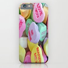 Candy Hearts iPhone 6 Slim Case