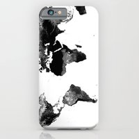 iPhone Cases featuring World Map  by WhimsyRomance&Fun