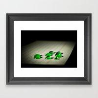 Emerald Rain Framed Art Print