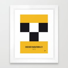 No002 My Taxi Driver minimal movie car poster Framed Art Print