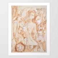 sepia I Art Print
