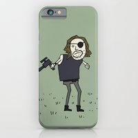 iPhone & iPod Case featuring Sad Snake Plissken In A Field by Squireseses