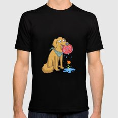 Dog Days Black SMALL Mens Fitted Tee