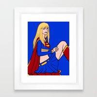 DC Poster Girls - Supergirl Framed Art Print