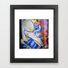 SHOEI'd Stig and her Star Framed Art Print