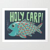Holy Carp! Art Print