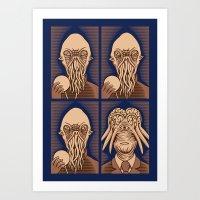 Ood One Out - Dalek Art Print