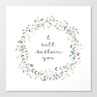 I WILL SUSTAIN YOU Canvas Print