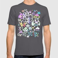 Galactic Pixel War Mens Fitted Tee Asphalt SMALL