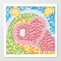 Love Mosaic Canvas Print