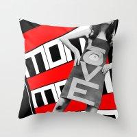 LOVE MoM Throw Pillow