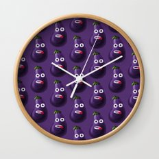 Stressed Out Eggplant Wall Clock