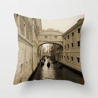 Bridge Of Sighs, Venice,… Throw Pillow