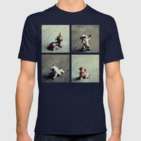 Tiny Menagerie Mens Fitted Tee Navy SMALL