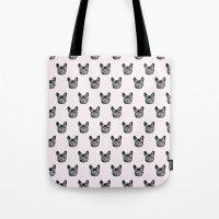 Polka Dog Tote Bag