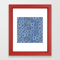 Picture Frames Blue Framed Art Print