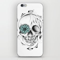 Poetic Wooden Skull iPhone & iPod Skin