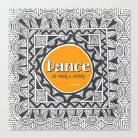 QUOTWAIN (1 of 4) - DANCE V1 Canvas Print