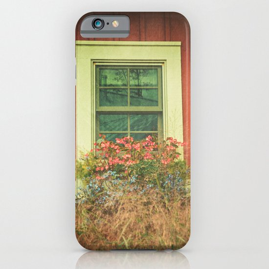 White Window on Red House iPhone & iPod Case