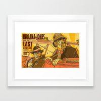 last crusade Framed Art Print