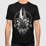 Malediction Mens Fitted Tee Tri-Black SMALL