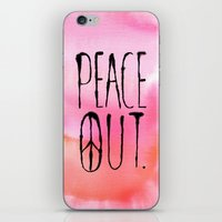 Peace Out. iPhone & iPod Skin