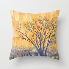 Silverbirch, north of Queen Throw Pillow