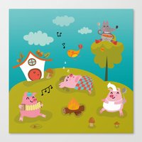 Three little PIG Canvas Print