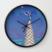 Christmas Flight Wall Clock