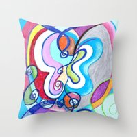 Free as a Butterfly Throw Pillow