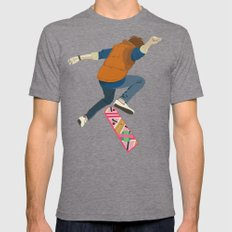 McFly Mens Fitted Tee Tri-Grey SMALL