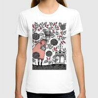 Winter Garden Womens Fitted Tee White SMALL