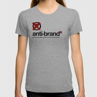 anti-brand® Womens Fitted Tee Athletic Grey SMALL