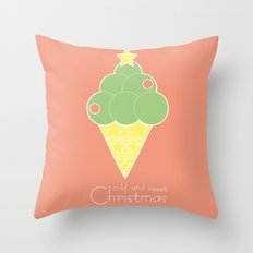 cold and sweet Christmas Throw Pillow