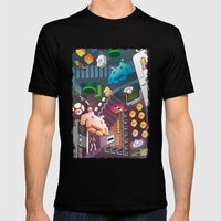 Lost In Videogames Mens Fitted Tee Black SMALL