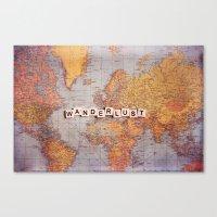 wanderlust map Canvas Print