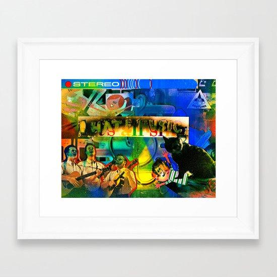 """I Hate Music"" by Cap Blackard Framed Art Print"